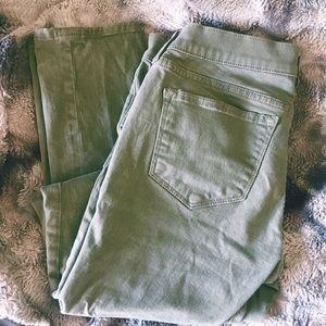 J. Crew Olive Green Stretch Skinny Jeans
